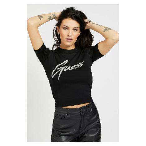 Guess černé tričko Front Logo