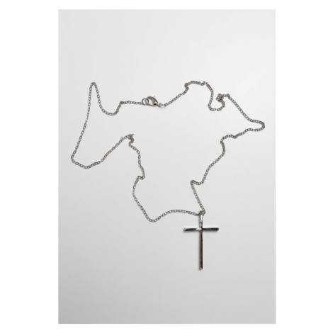 Big Basic Cross Necklace - silver Urban Classics