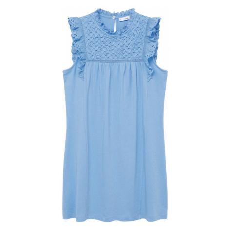 MANGO Letní šaty 'Petra' světlemodrá