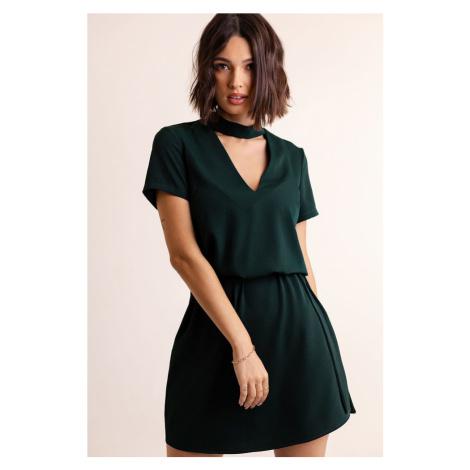 Dámské krátké šaty s chokerem 292 IVON