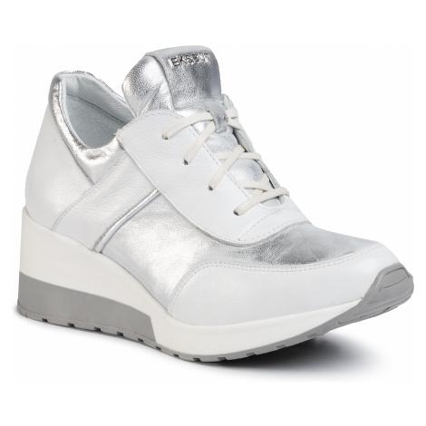 Sneakersy EKSBUT - 29-5702-N86/369/I92 Biało/Srebrny