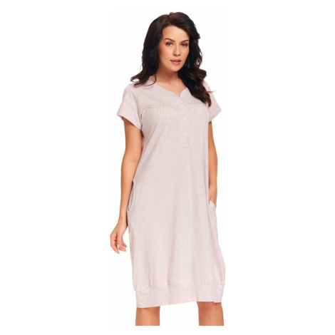 DN Nightwear Kojicí noční košile Cherry šedorůžová