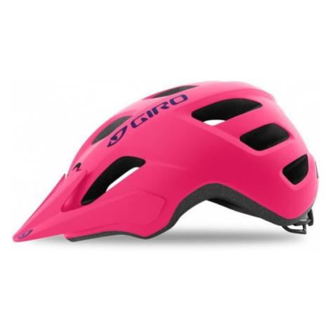 Juniorská cyklistická helma Giro Tremor Matte Bright Pink