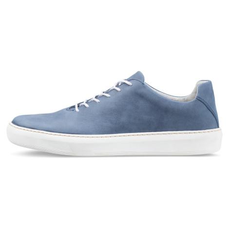 Vasky Teny Blue - Dámské kožené tenisky modré, česká výroba