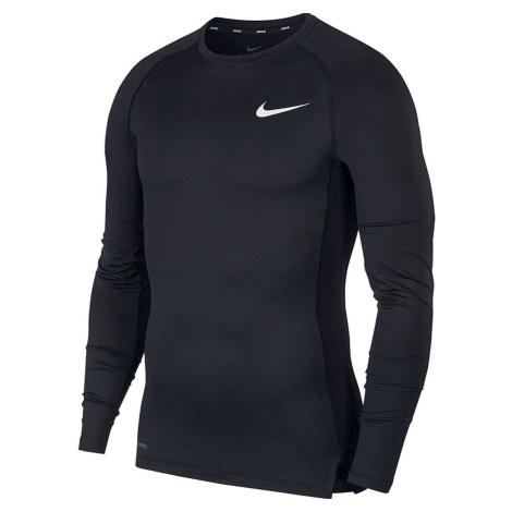 Kompresní triko Nike Pro LS Top Černá / Bílá