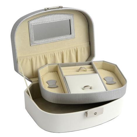 JK BOX SP-932/A20/AG, Dámská šperkovnice krémová JKbox