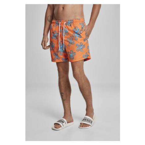 Floral Swim Shorts - orange Urban Classics