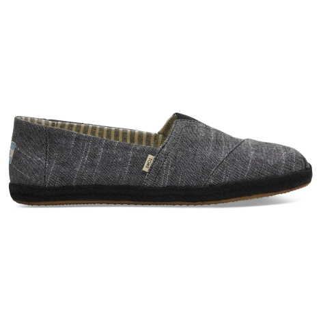 Black Chambray On Mono Rope Men Alpargata Toms