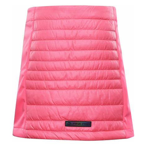 Dětská zimní sukně Alpine Pro TRINITO 6 - růžová