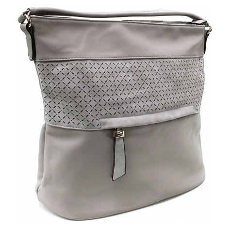 Šedohnědá dámská crossbody kabelka s vyraženým vzorem Jocelyn New Berry