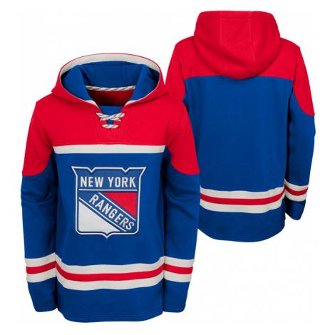 Dětská hokejová mikina s kapucí adidas Asset Pullover Hood NHL New York Rangers