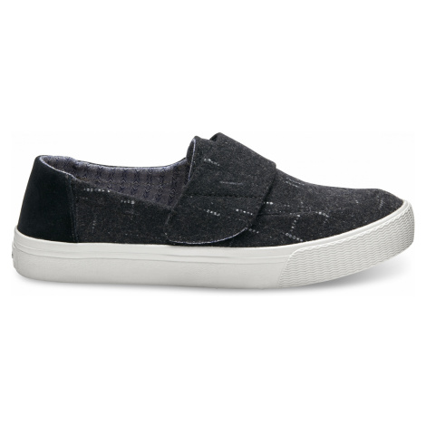 ALTAIR-Black Dotted Wool Suede Toms