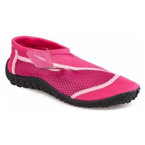 Loap SHARK KID růžová - Dětské boty do vody