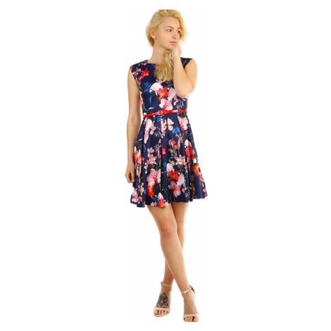 Dámské retro šaty s květinovým vzorem