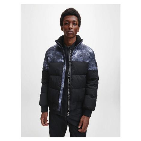 Calvin Klein Calvin Klein pánská černá bunda CLOUD PRINT PUFFER JACKET