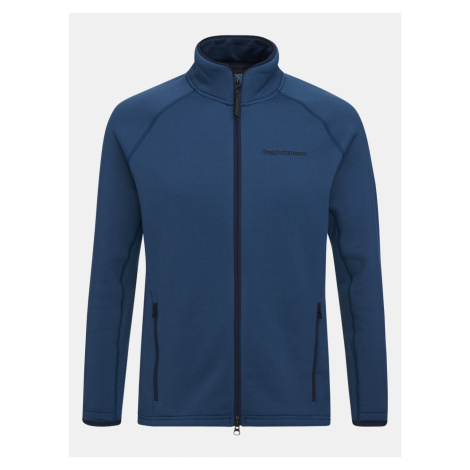 Mikina Peak Performance M Chill Zip Jacket - Modrá