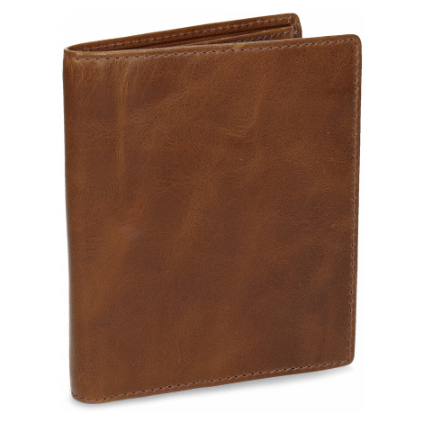 Hnědá kožená pánská peněženka Baťa