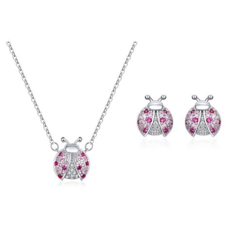 Linda's Jewelry Zvýhodněná sada šperků se zirkony Beruška Ag 925/1000 IS021