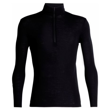 Pánské triko dlouhý rukáv, 1/2 zip ICEBREAKER Mens 175 Everyday LS Half Zip, Black