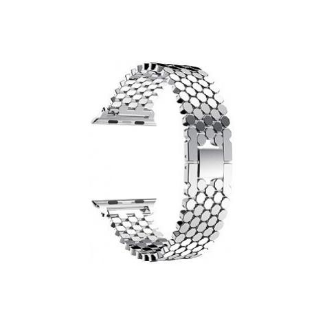 Eternico Apple Watch 42mm / 44mm Metal Band stříbrný