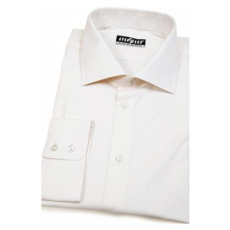 Smetanová bavlněná pánská košile OXFORD KLASIK - úprava EASY CARE Avantgard