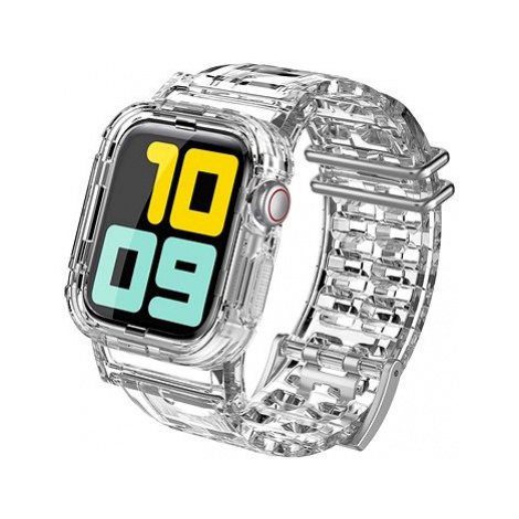 AhaStyle TPU řemínek pro Apple Watch 42/44mm průhledný
