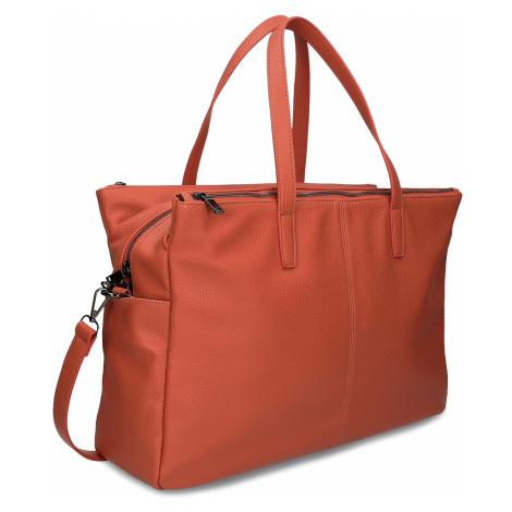 Oranžová dámská kabelka velká Baťa