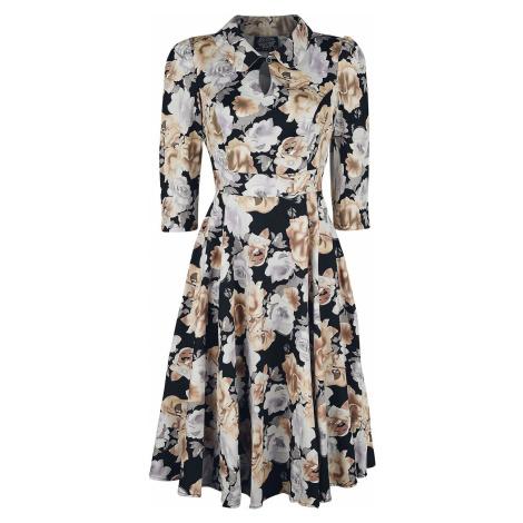 H&R London Glamorous Flower Tea Dress šaty vícebarevný