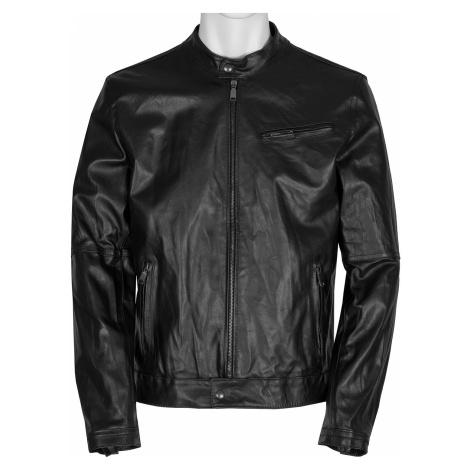 Pánská černá kožená bunda Baťa