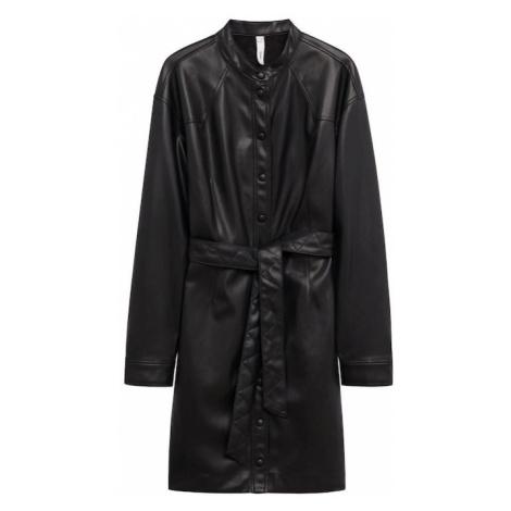 MANGO Košilové šaty černá