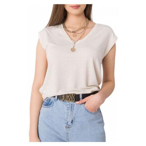 Smetanové dámské tričko s krátkým rukávem Rue Paris