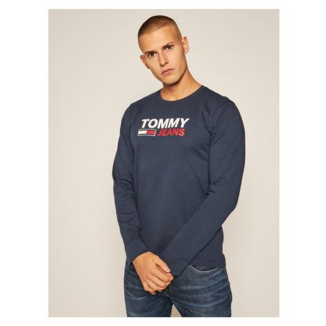 Tommy Hilfiger TOMMY JEANS pánské tmavě modré tričko s dlouhým rukávem SUSTAINABLE LOGO LONGSLEE