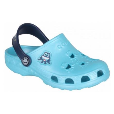 Coqui LITTLE FROG modrá - Dětské sandály