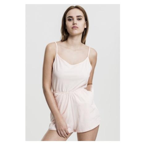 Ladies Short Spaghetti Jumpsuit - pink Urban Classics