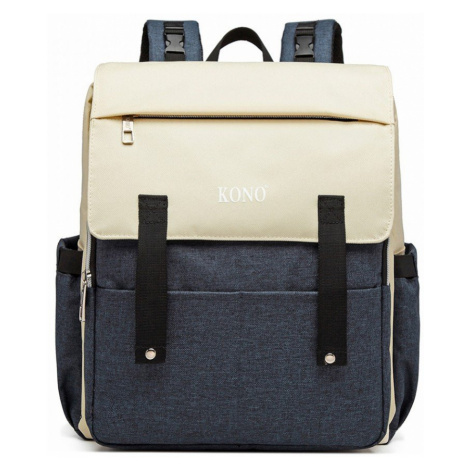 Modro-béžový multifunkční batoh s nabíjením přes USB