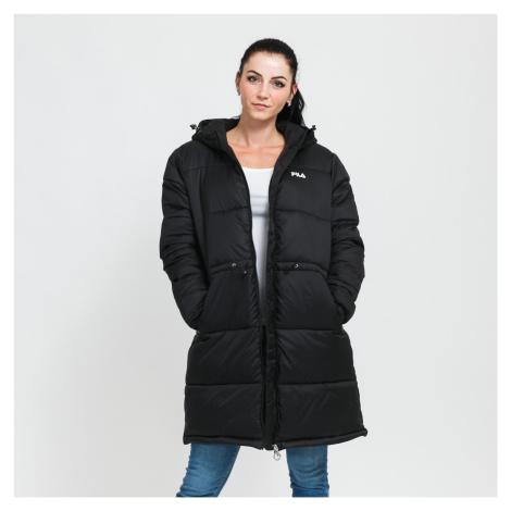 Fila Women Long Hooded Puffer Jacket černá