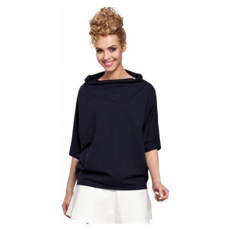 Made Of Emotion Woman's Blouse M285 Navy Blue