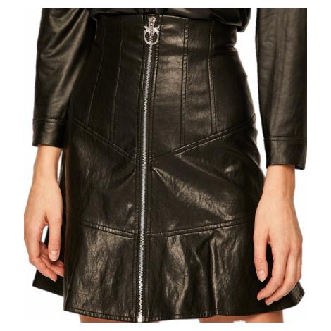 Černá sukně PINKO z ekokůže