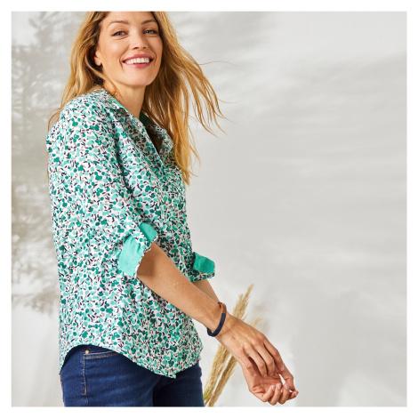 Blancheporte Košile s potiskem květin zelená