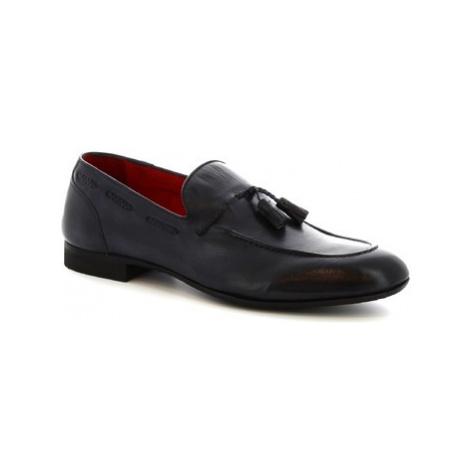 Leonardo Shoes 8717E19 CRUST BOTTOLATO AV BLU Modrá