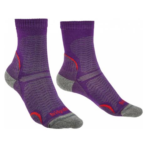 Dámské turistické ponožky Bridgedale Hike Ultra Light T2 Merino Performance Crew Dark Purple