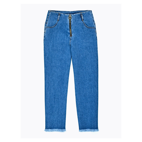 GATE Široké džíny s roztřepením