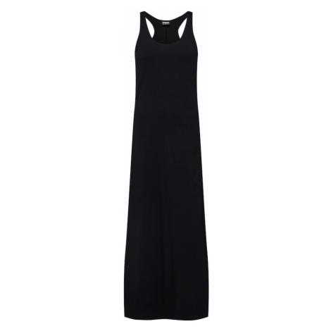 Urban Classics Šaty 'Ladies Long Racer Back Dress' černá