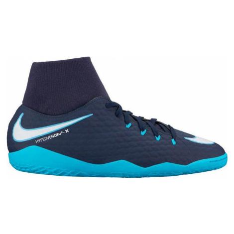 Sálovky Nike HypervenomX Phelon III DF IC Tmavě modrá / Modrá