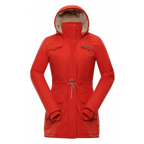 ALPINE PRO EDITE 5 Dámský zimní kabát LCTP103344 cherry tomato