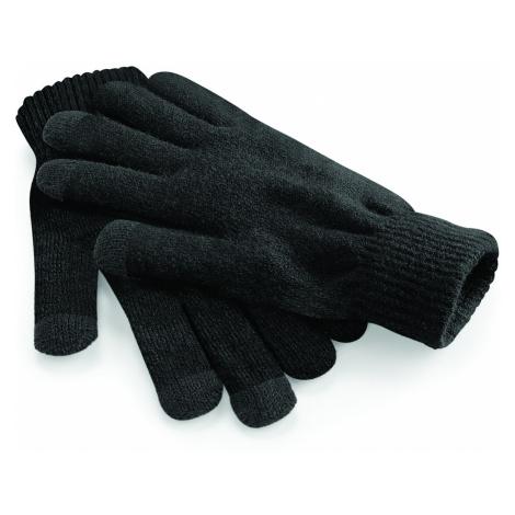 Zimní rukavice s dotykem na mobil - černé Beechfield