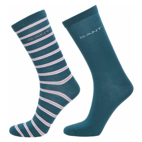 PONOŽKY GANT D1. 2-PACK SOLID AND STRIPE SOCKS