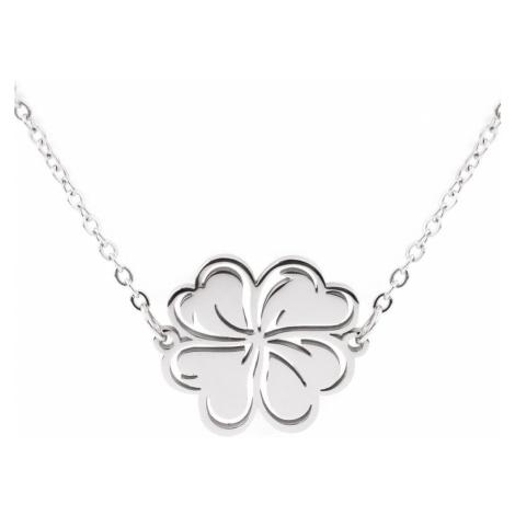 Vuch Dámský náhrdelník Lucky Silver