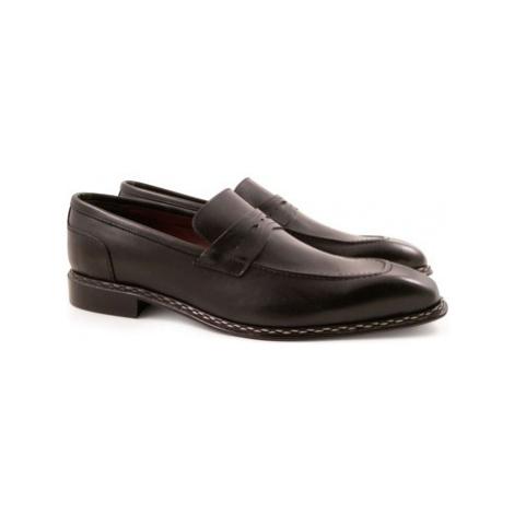 Leonardo Shoes 2816/10 TEMP.DELAVE NERO Černá