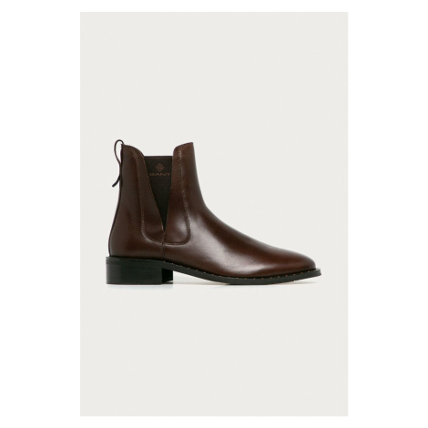 Gant - Kožené kotníkové boty Hampton